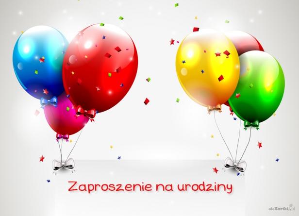 Zaproszenie Na Urodziny Sześć Balonów Zaproszenia Na Urodziny