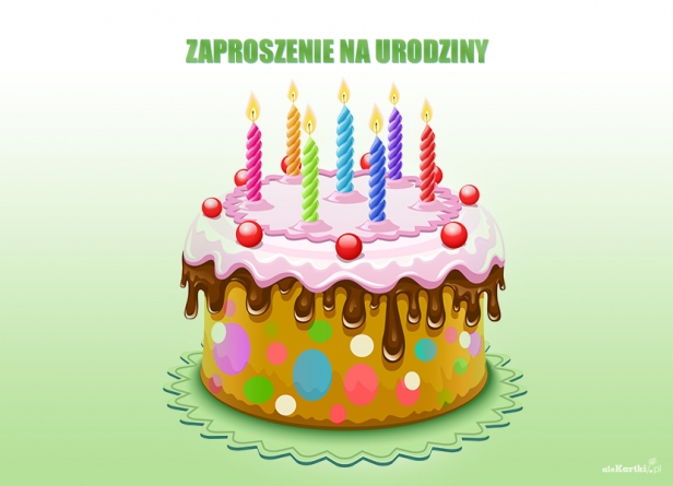 Zaproszenie Na Urodziny Tort Owocowy Zaproszenia Na Urodziny