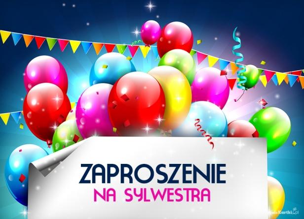 Zaproszenie Na Sylwestra Balony Zaproszenia Sylwestrowe